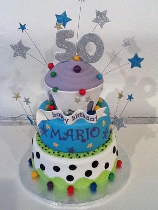Verjaardagstaart Happy Birthday 50 Jaren